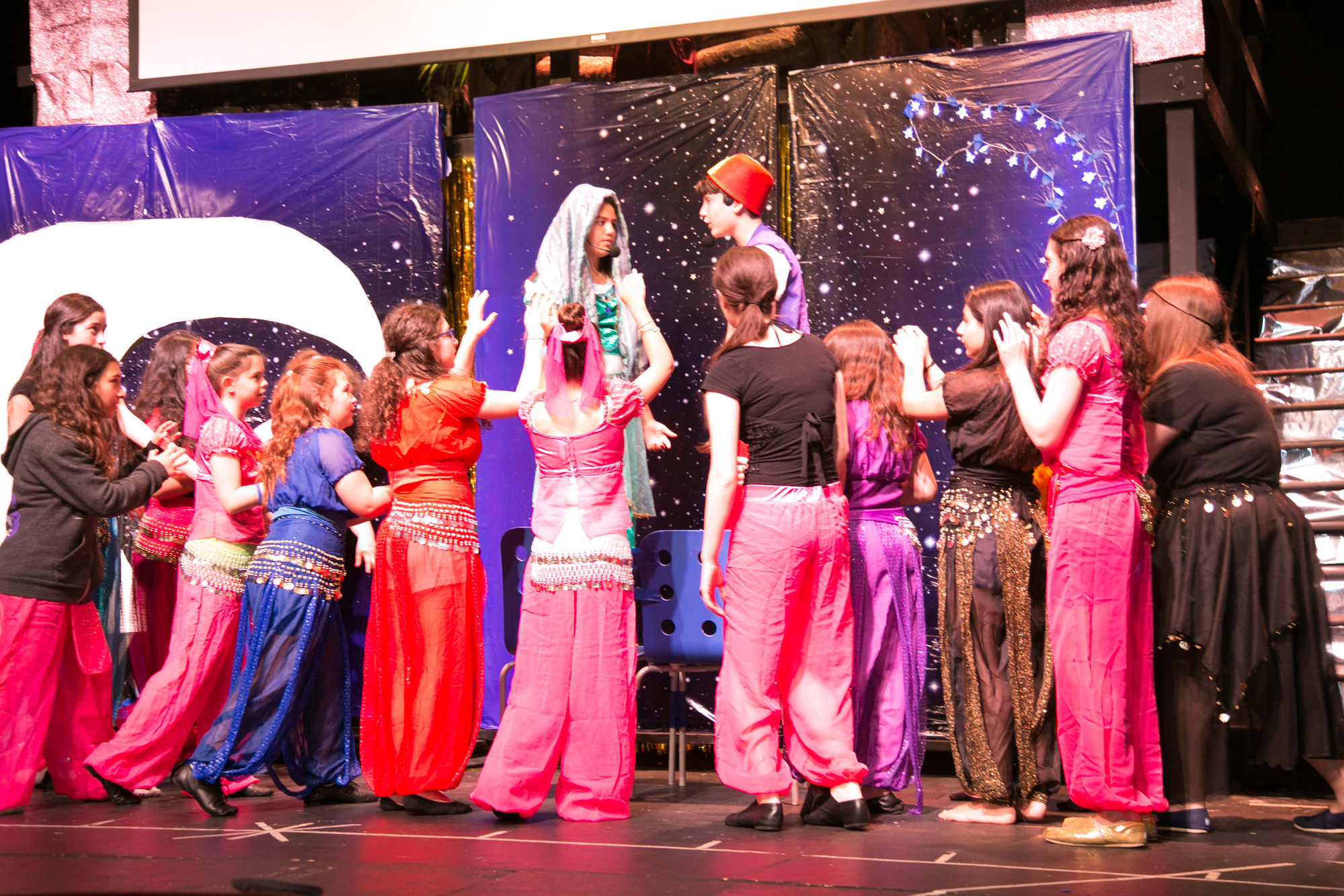 "HAFTR Middle School students performed Disney's ""Aladdin"" and raised over $3,000 that will help defray the medical expenses of high school alum Meredith Farrell."