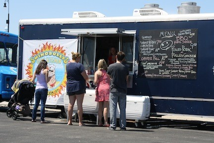 The Shoregasboard food truck court officially opened this past weekend.