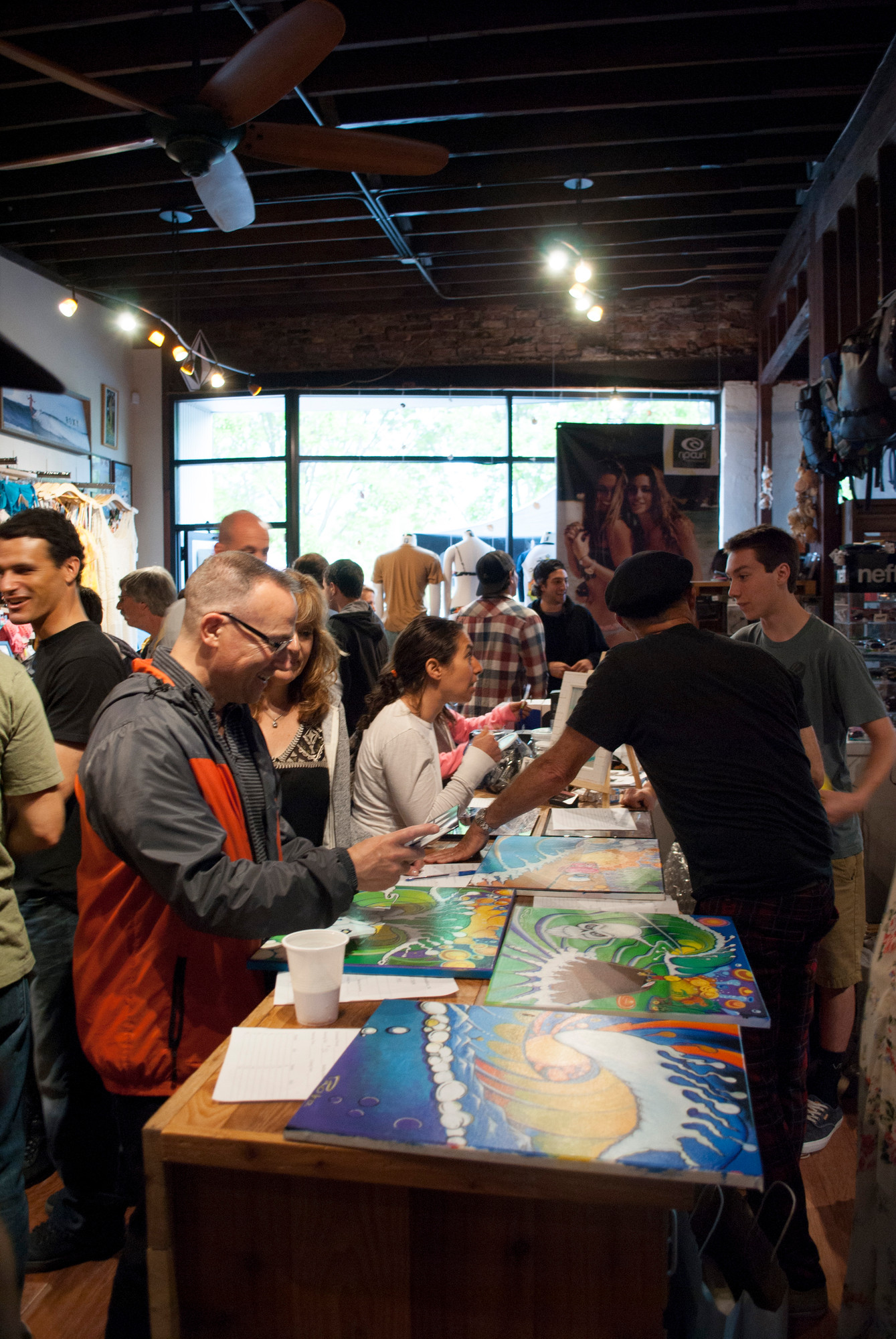 Unsound surf shop hosted its annual art show benefit last Saturday night.