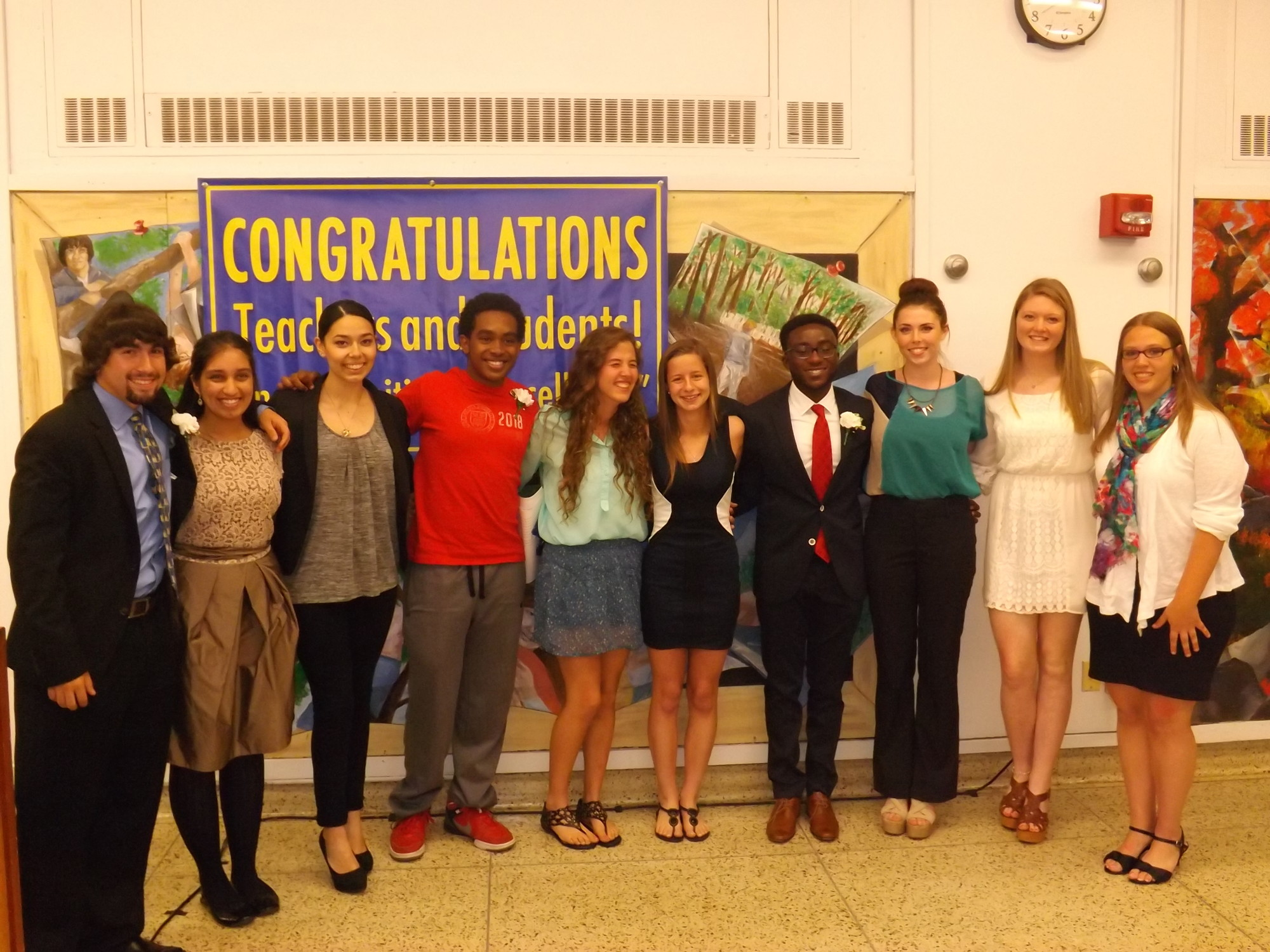 Ten Baldwin seniors honored teachers who have made an impact on their lives. The students represented a range of strengths, including academics, arts and athletics.
