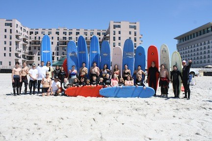 Skudin Surf and Surf 2 Live teamed up to host a fundraiser for the LBHS surf team by donating surfing lessons on May 25.