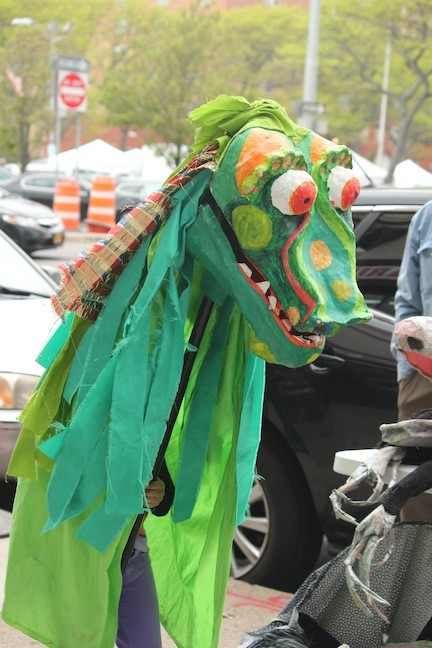 The Puppeteer�s Cooperative brought colorful, life-size puppets to the carnival.
