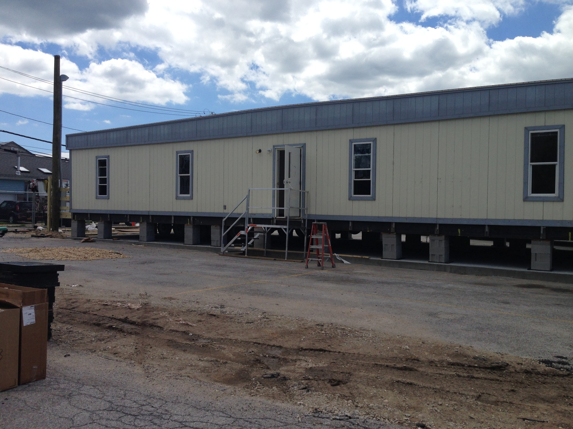 South Nassau began installation of the urgent care modular unit on Friday. The facility is expected to open on July 1.