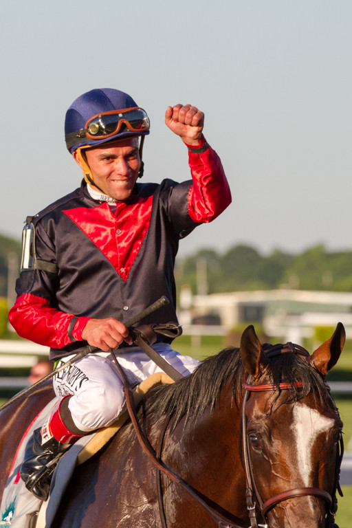 Joel Rosario rode Tonalist to victory in the 146th Belmont Stakes on Saturday. Triple Crown-hopeful California Chrome finished in a dead-heat for fourth before a crowd of 102,199.