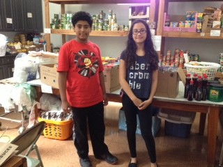 Brandon Walters and Alyssa La Motta at the Food Pantry