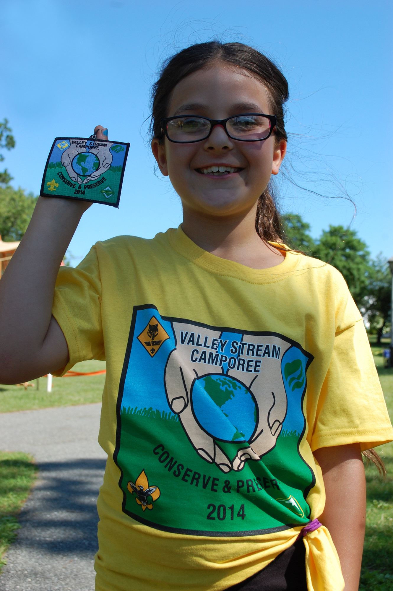 Girl Scout Alexa Stevens designed this year's Camporee patch.