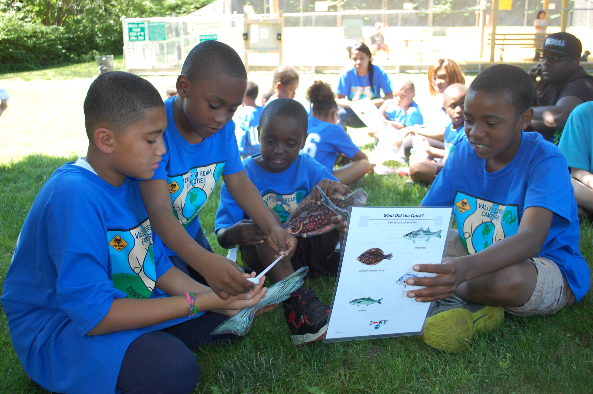 Pack 106 Cub Scouts, from left, Brian Ward, Anthony Wood, Darius Dorsey and Cedrik Jean-Baptiste took part in the nature-based programs.