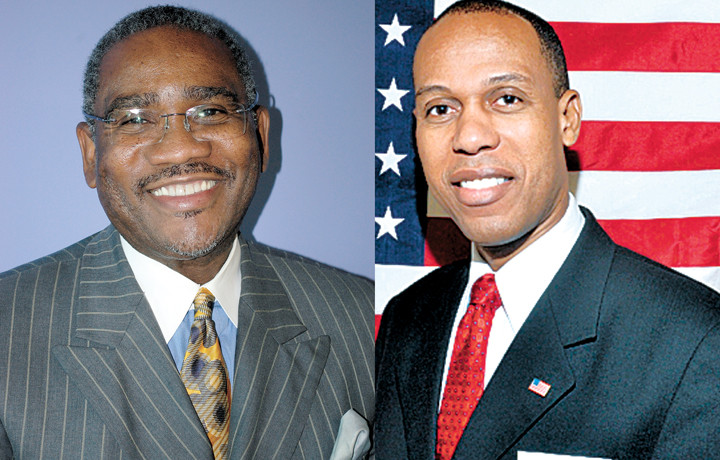 U.S. Rep. Gregory Meeks, left, will seek reelection against Joseph Marthone, right, in the primary election of the 5th Congressional District
