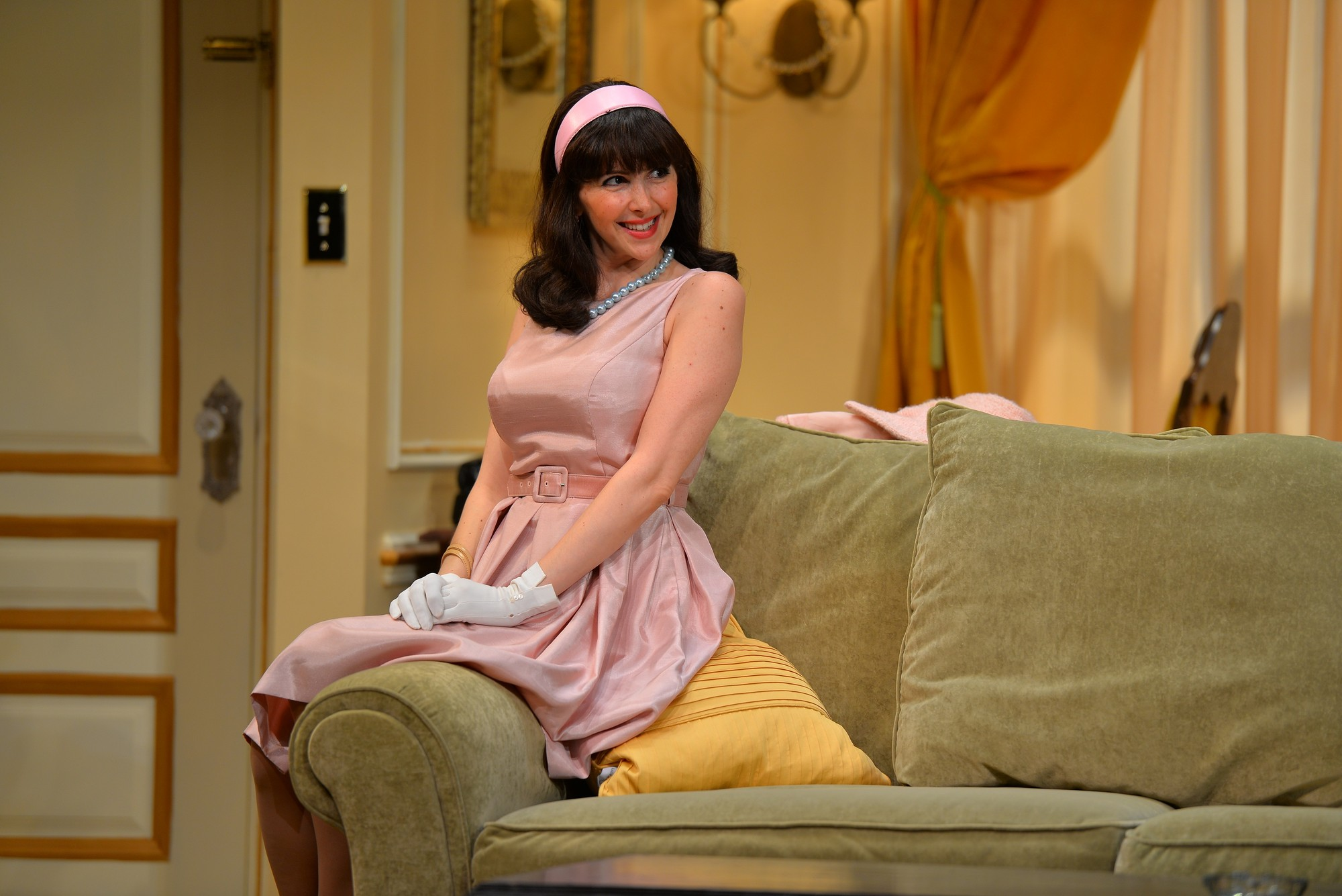 "Gina Milo as Muriel in Neil Simon's classic comedy, ""Plaza Suite,"" at the John W. Engeman Theater in Northport. It opened May 29 and continues through July 13."