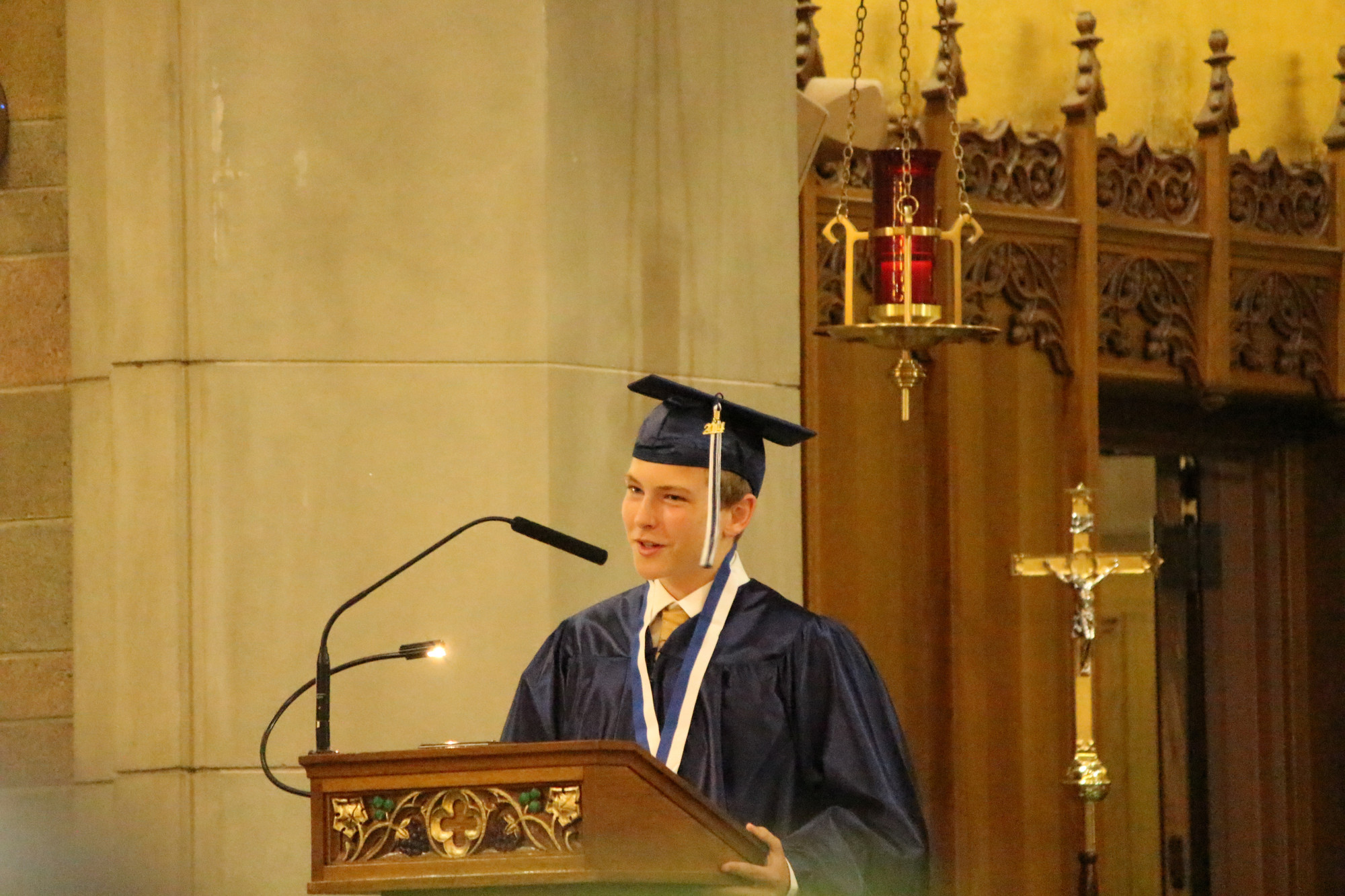 Ryan Herrmann gave a speech of his own, thanking his parents for all of their love and inspiration.