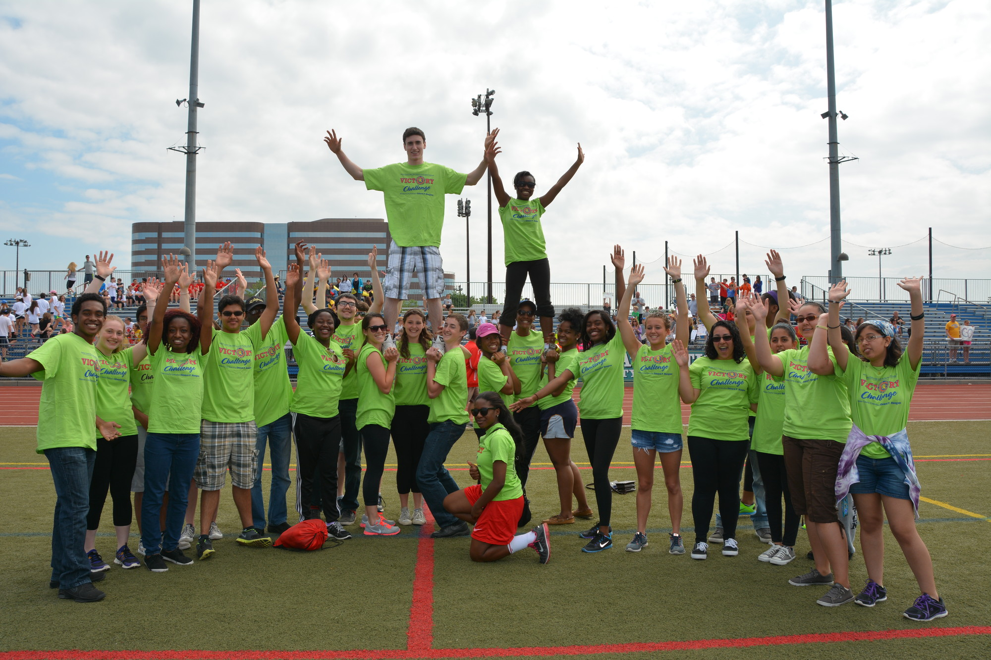 National Honor Society members at Baldwin High School volunteered recently at Nassau County's annual Victory Challenge Empire State Games for the Physically Challenged.