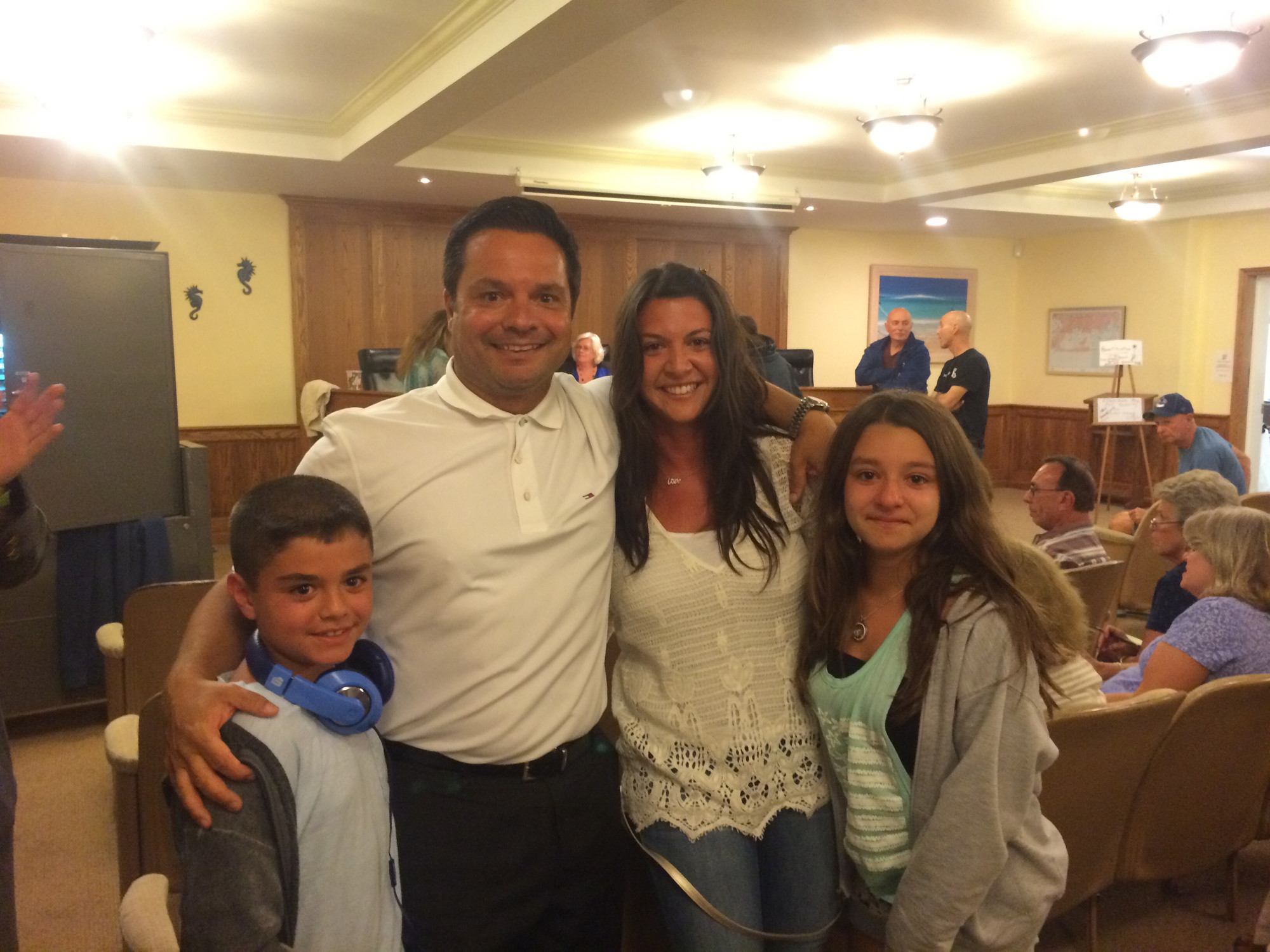 Atlantic Beach elected a new mayor as George Pappas, with family, unseated incumbent Stephen Mahler by 61 votes.