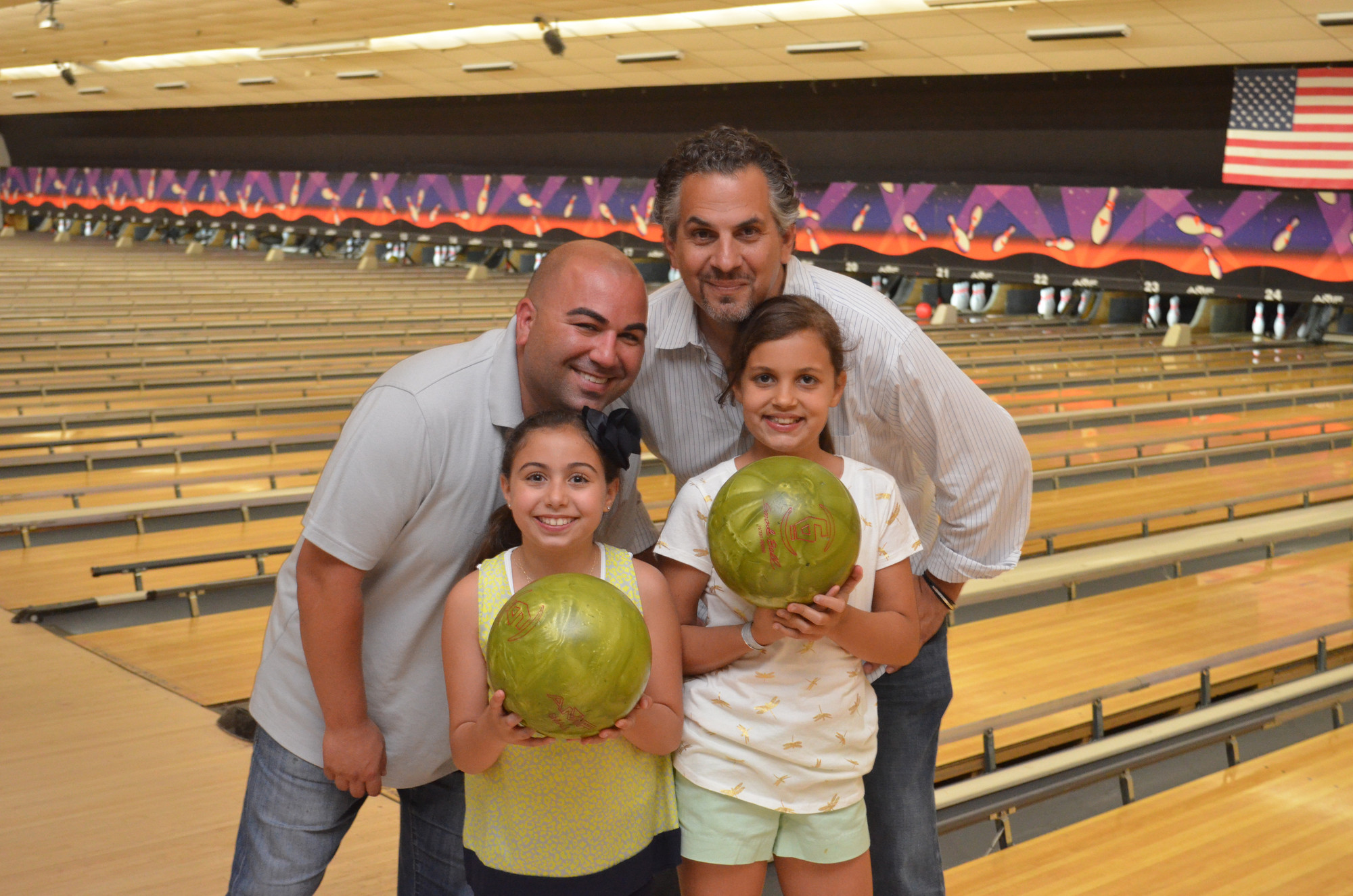 Left, Mike Gentile and his daughter Giustina 11 and Right, Mike Martino with his daughter Julia 10.