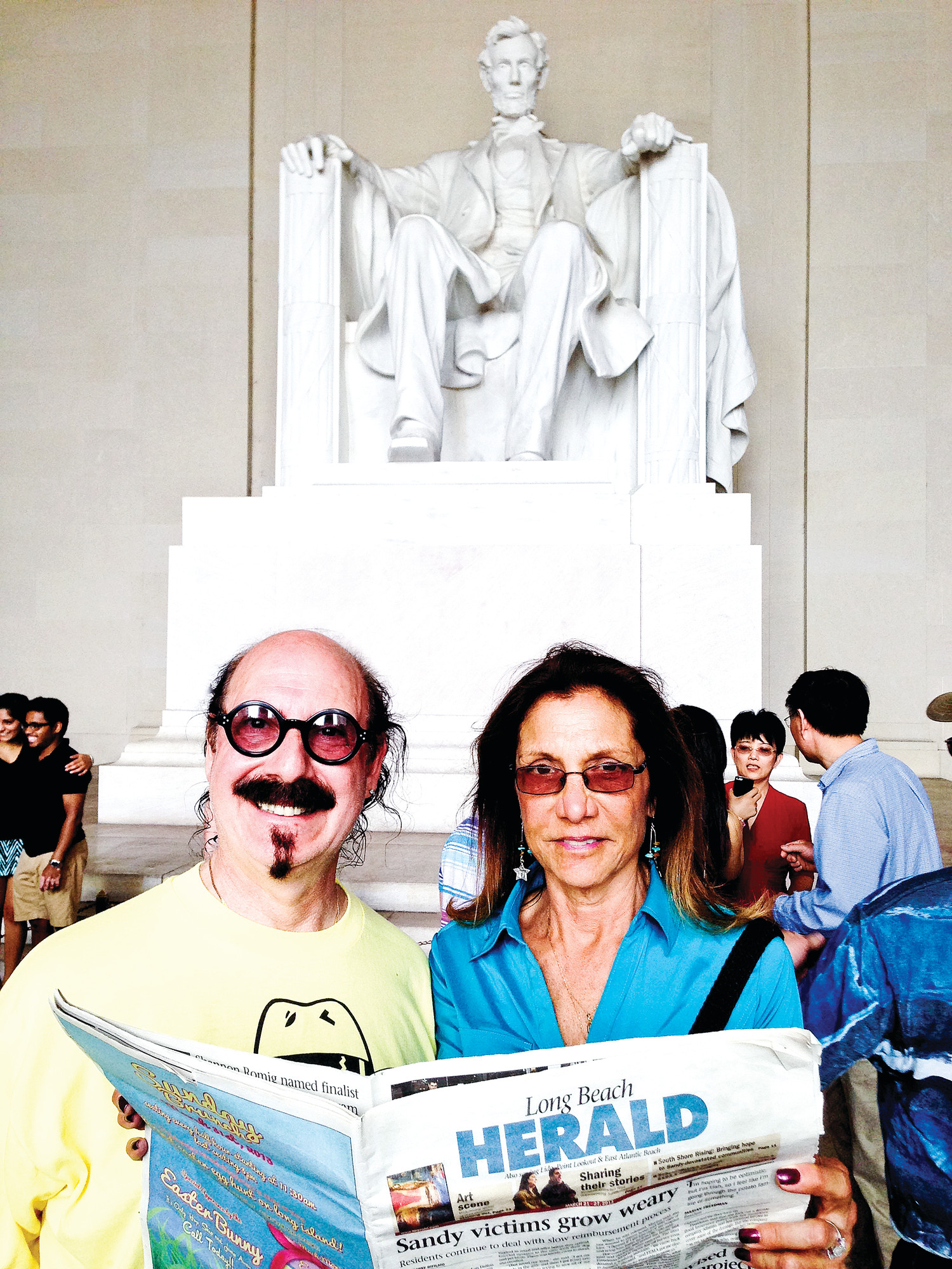 At the Lincoln Memorial — Washington, D.C.