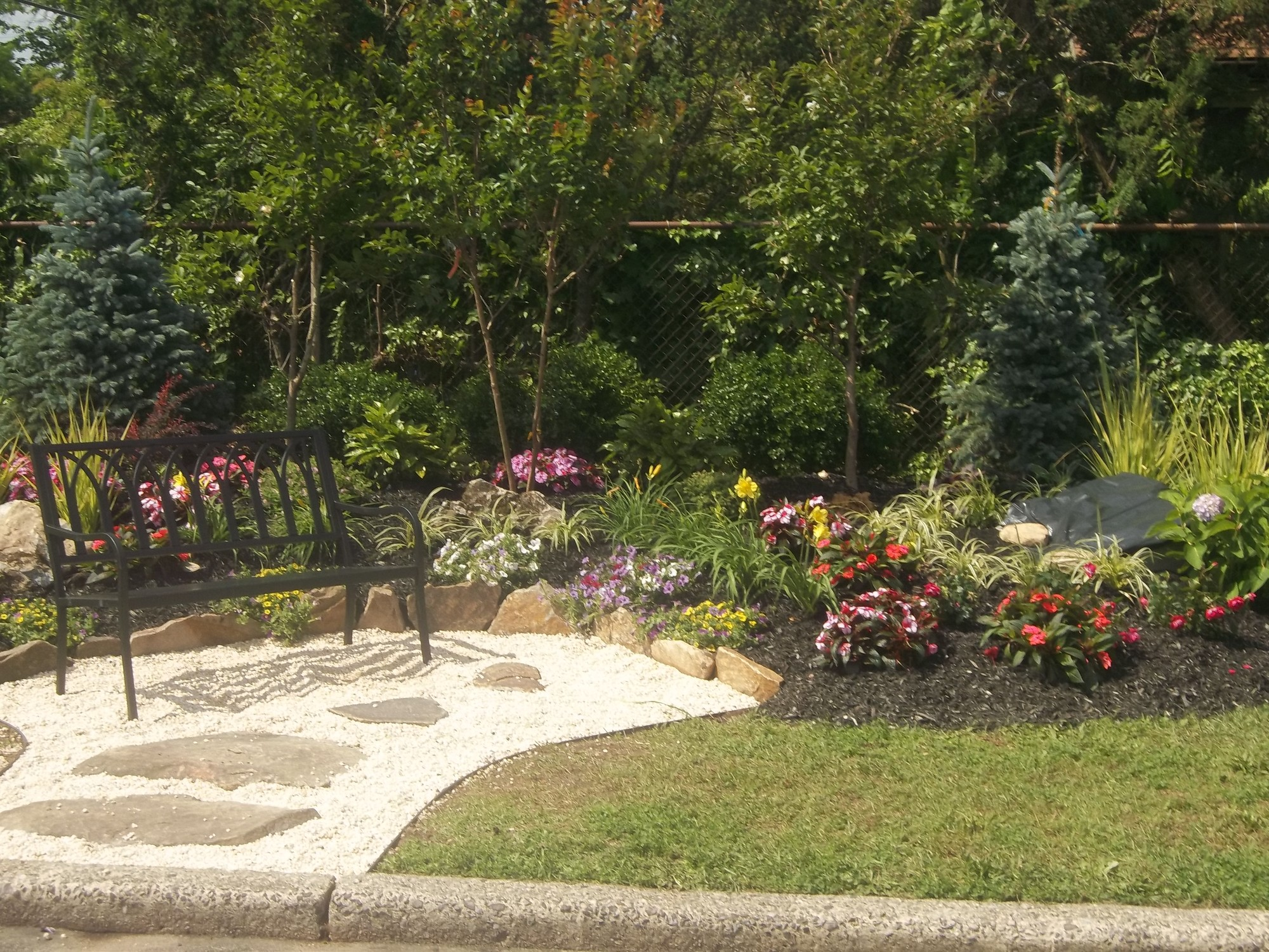 The Zachary Bernstein Garden, on the grounds at South Middle School, will be maintained by Sal Cimato.