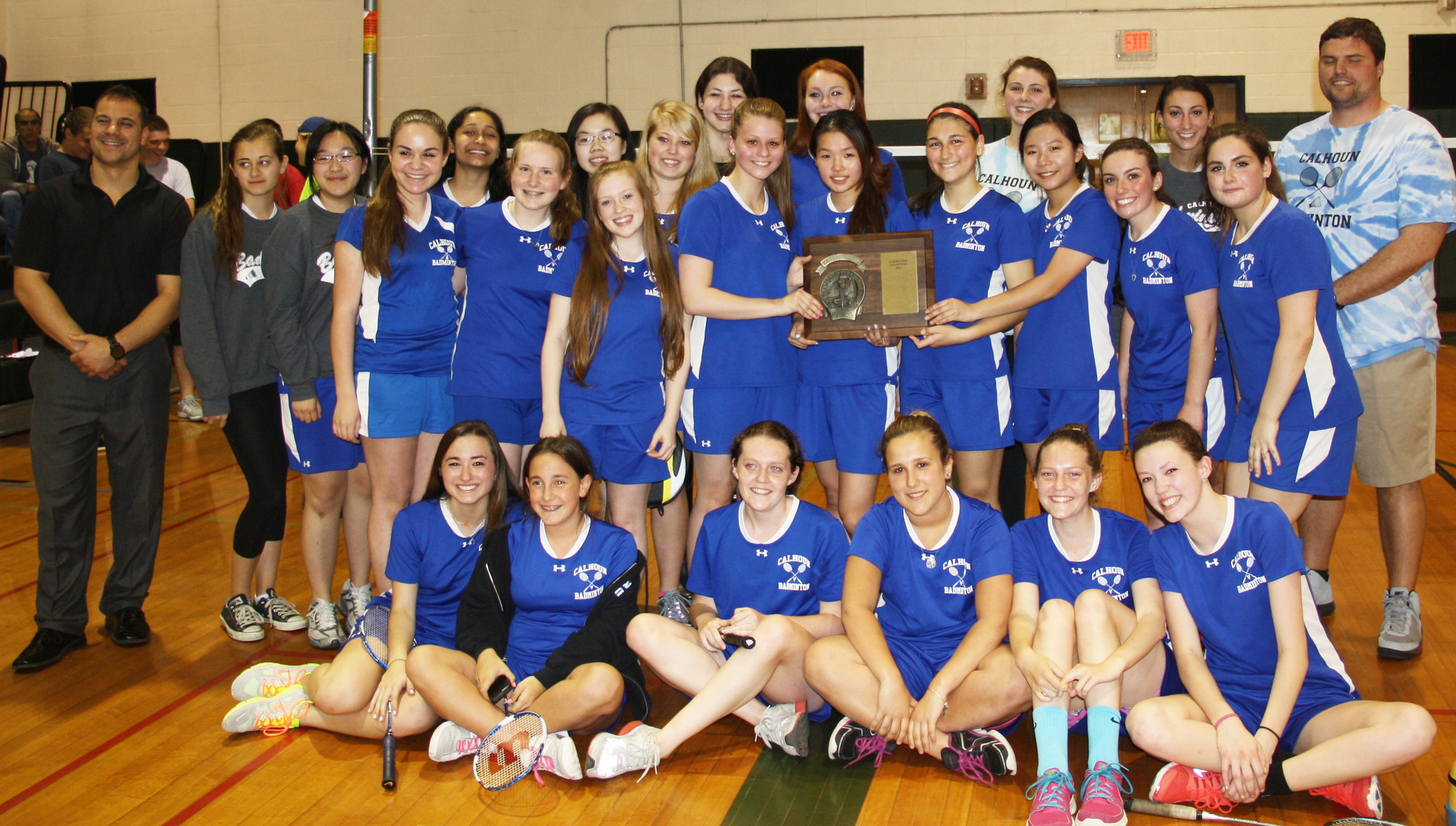 Calhoun enjoyed a big finish to the badminton season with nine straight wins, including a victory over Port Washington in the county finals.