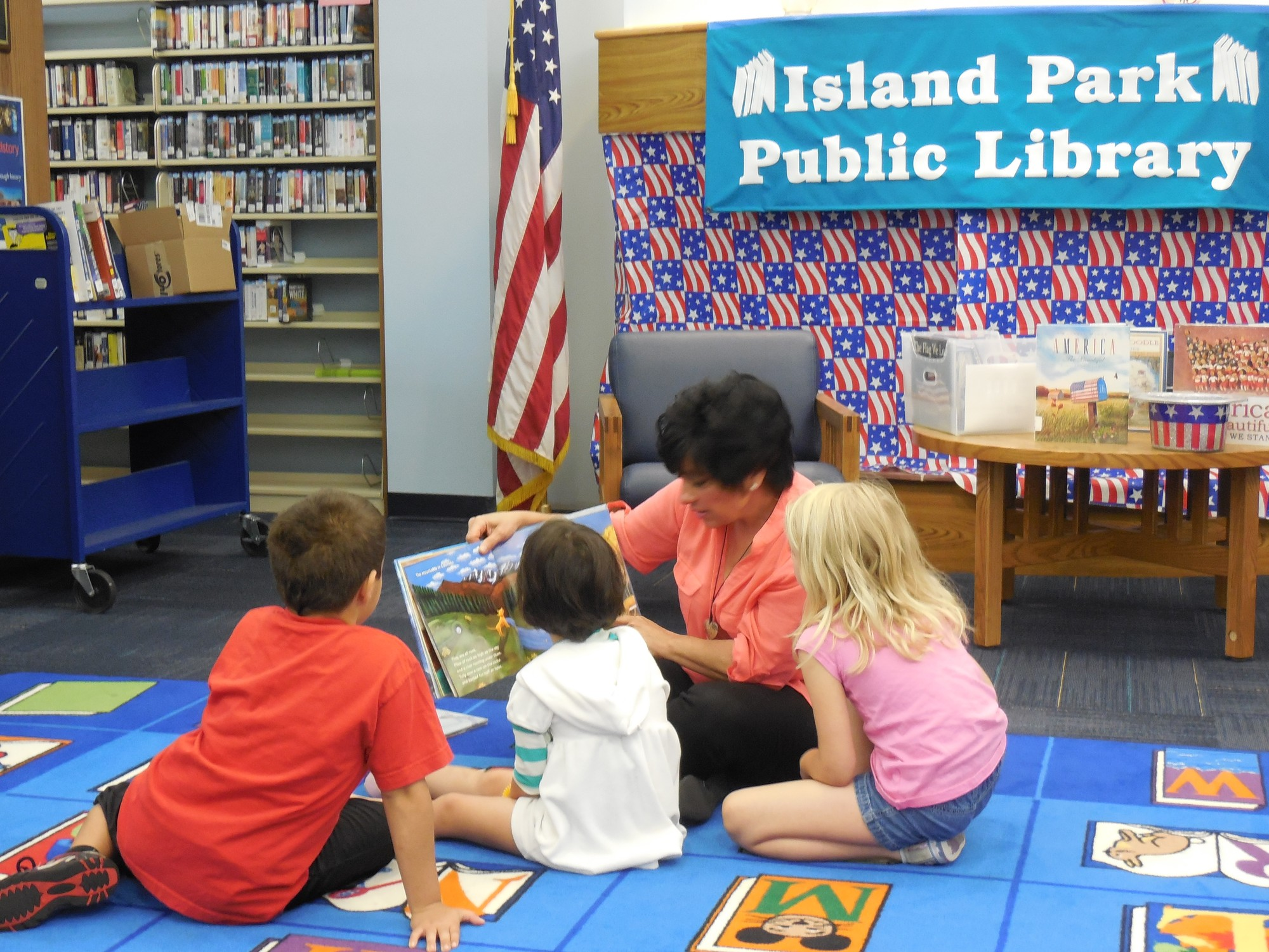 Linda Mangano, wife of Nassau County Executive Ed Mangano, was a guest reader at the Island Park Library.