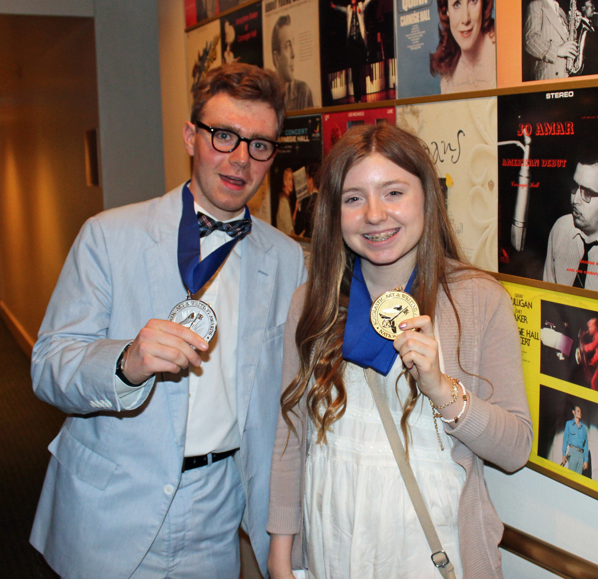 Long Beach High School students Max Tunney and Morgan Harrington were named national medalists in the 2014 Scholastic Art and Writing Awards competition. Harrington is from Island Park.