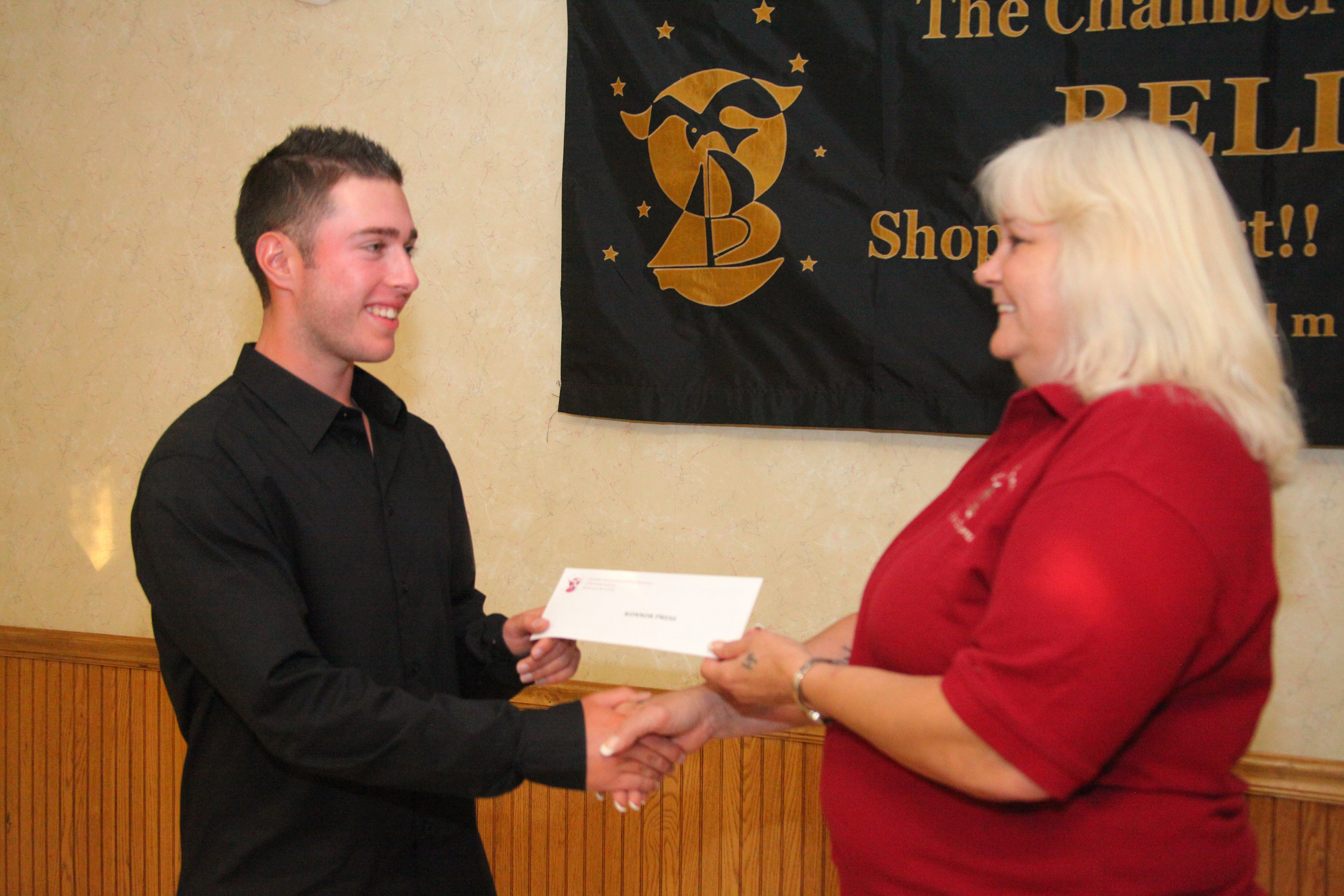 Konnor Press, a Kennedy senior received a scholarship award of $500 towards college tuition from the chamber