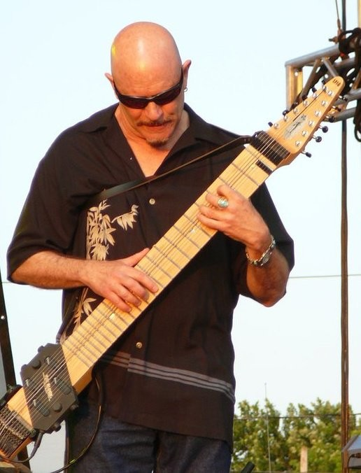Long Beach's Steve Adelson, master of the Chapman Stick, performs with his pals Chieli Minucci and Frank Bellucci  (aka the Ucci Brothers) and special guest Rachel Z on Saturday.