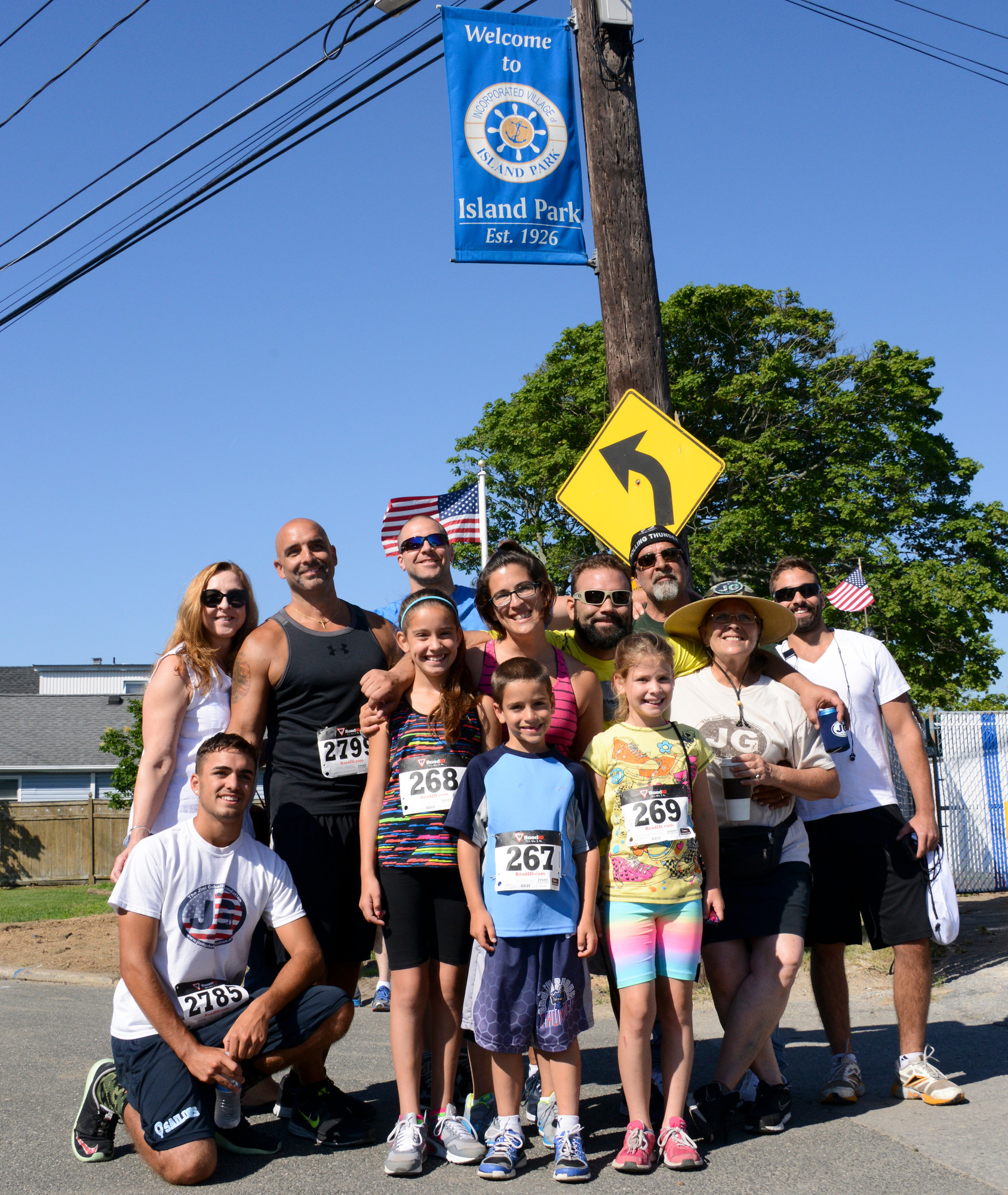 The Gubelli family at the 5k in Island Park.