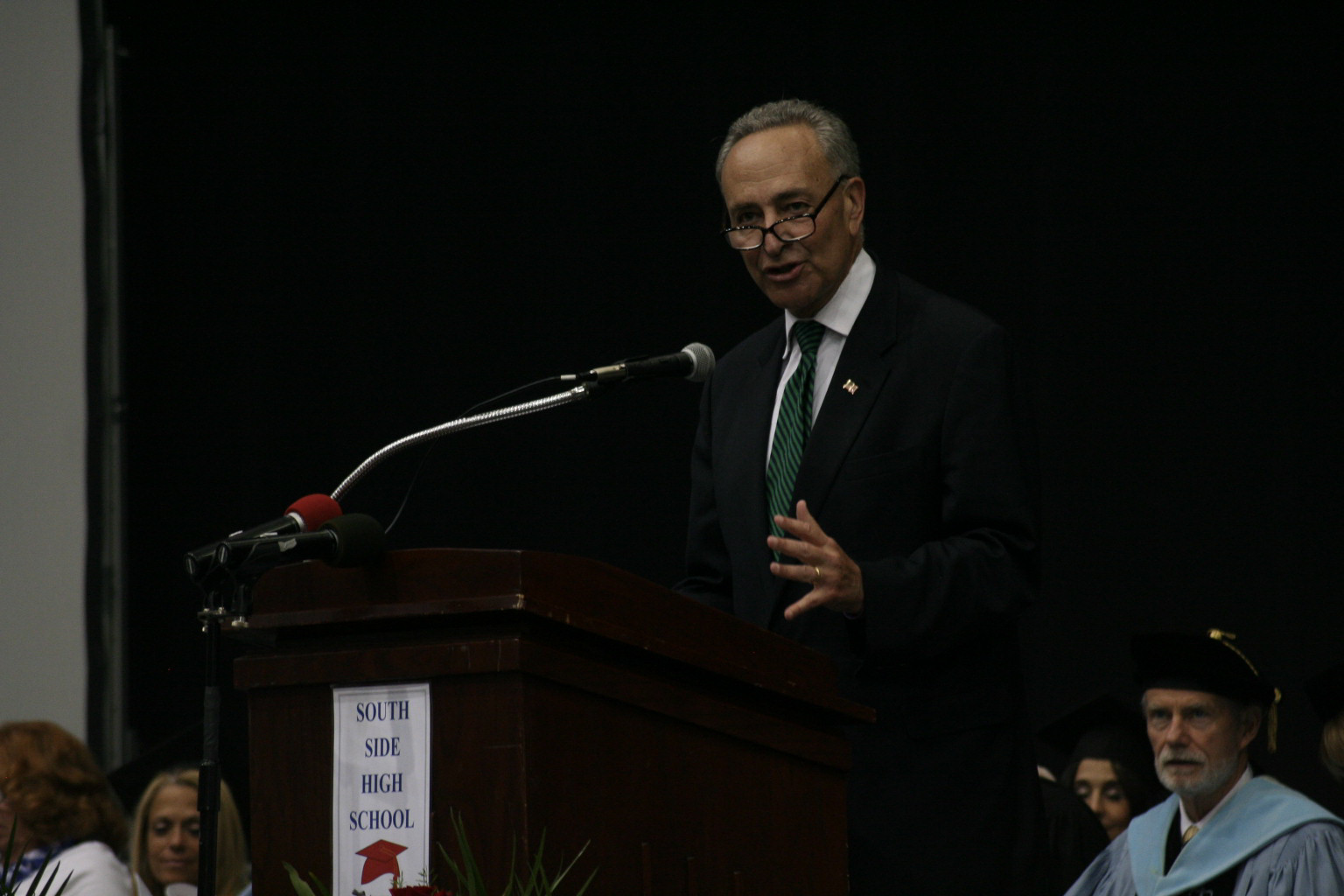 Sen. Chuck Schumer spoke about seizing opportunities.