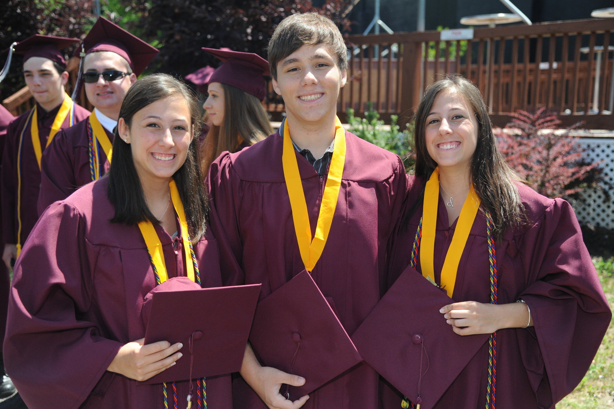 Mepham's commencement was a family affair for triplets Jennifer, Alex and Danielle Schulman.