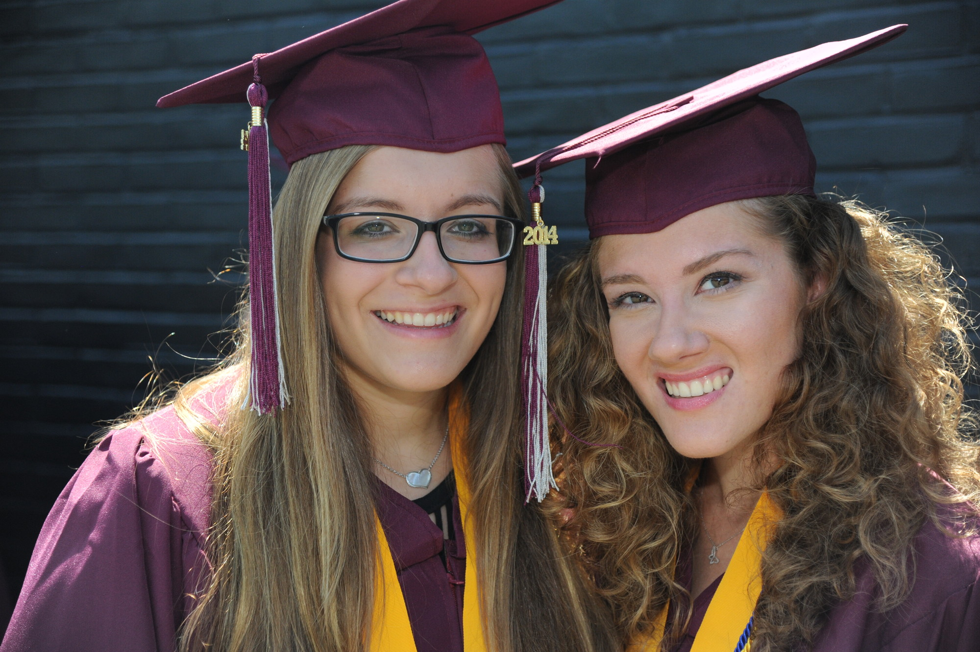 Erica and Arianna Miller were all smiles on graduation day.