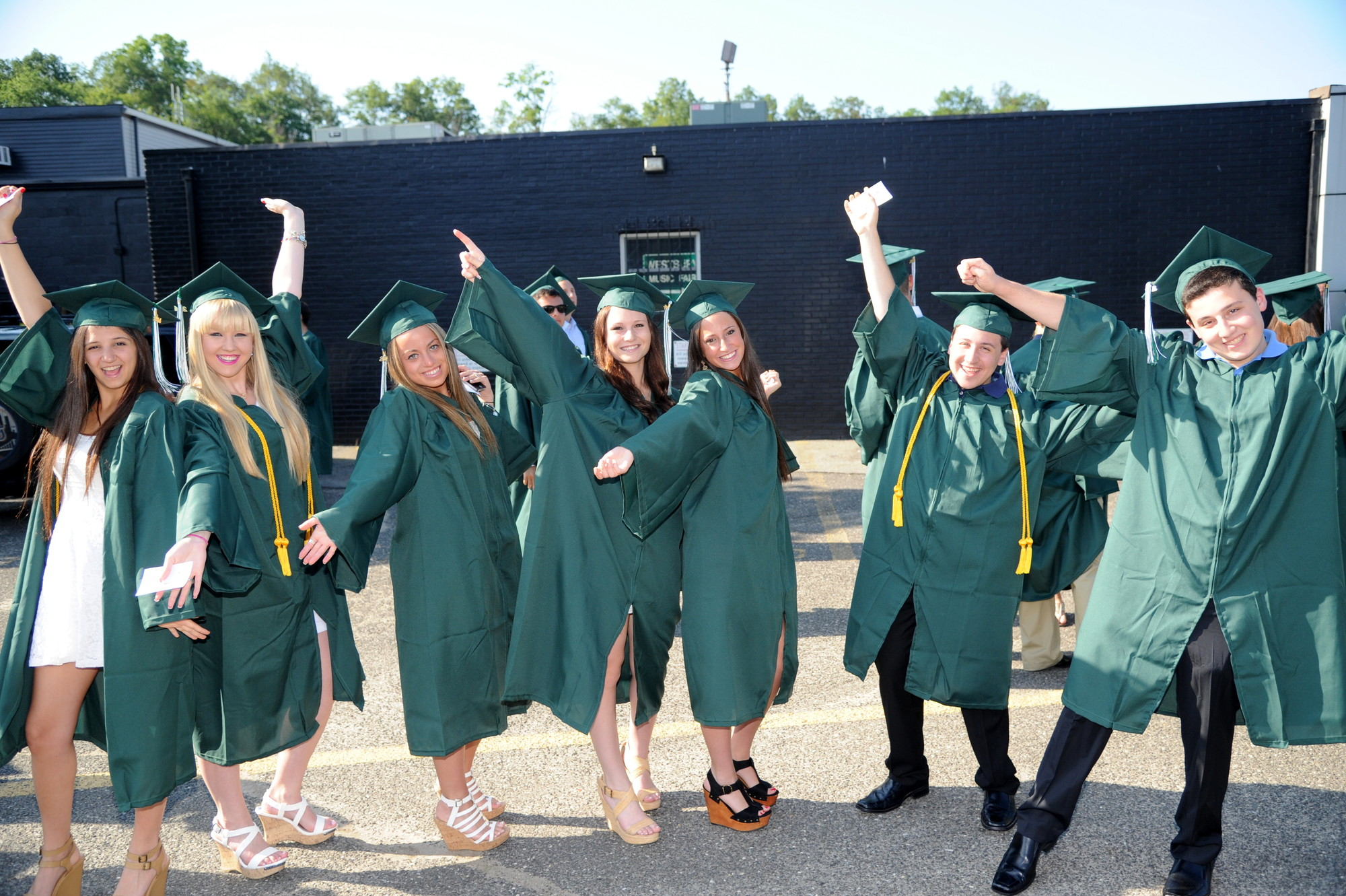 Kennedy High School seniors celebrated at graduation at the NYCB Theatre at Westbury last Sunday.