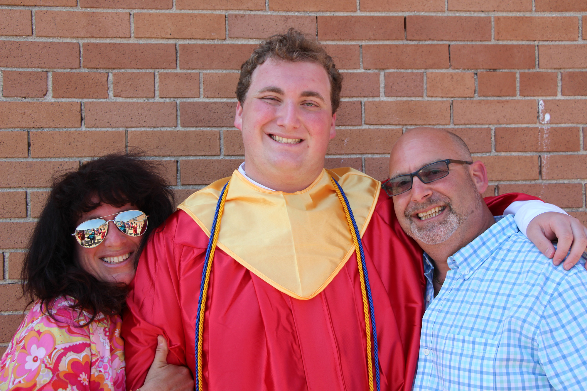 Graduate Jake Moldowsky thanked his father, Lee, and and his mother, Lisa, for all of their help and support. He will continue his education at Stony Brook University.