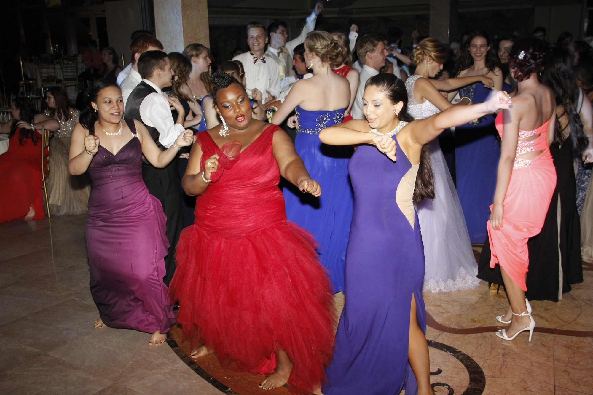 "Quiana Ferguson, Zenada Gordon and Alison Moreno pulled out their best ""Soldia Boy"" dance routine at prom."