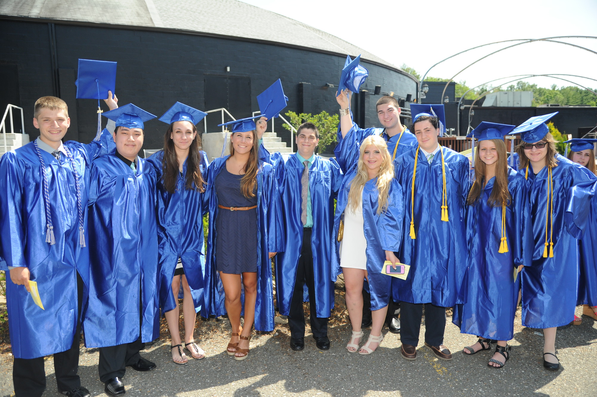 "Calhoun graduates marched to ""Pomp and Circumstance"" last Sunday."