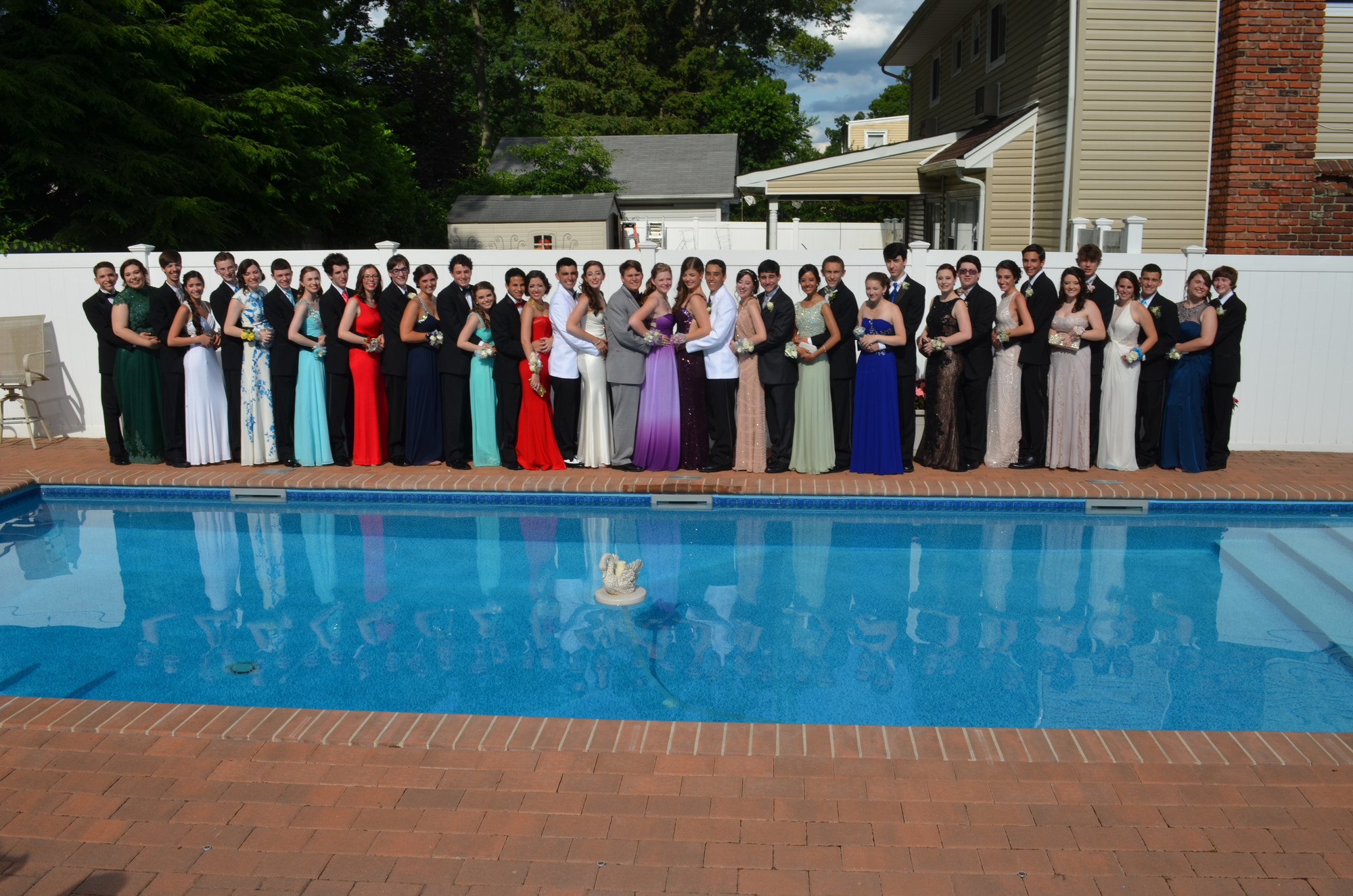 About 40 Calhoun students gathered at a pre-prom event held at the home of Matt Vogel, a senior who graduated on Sunday.