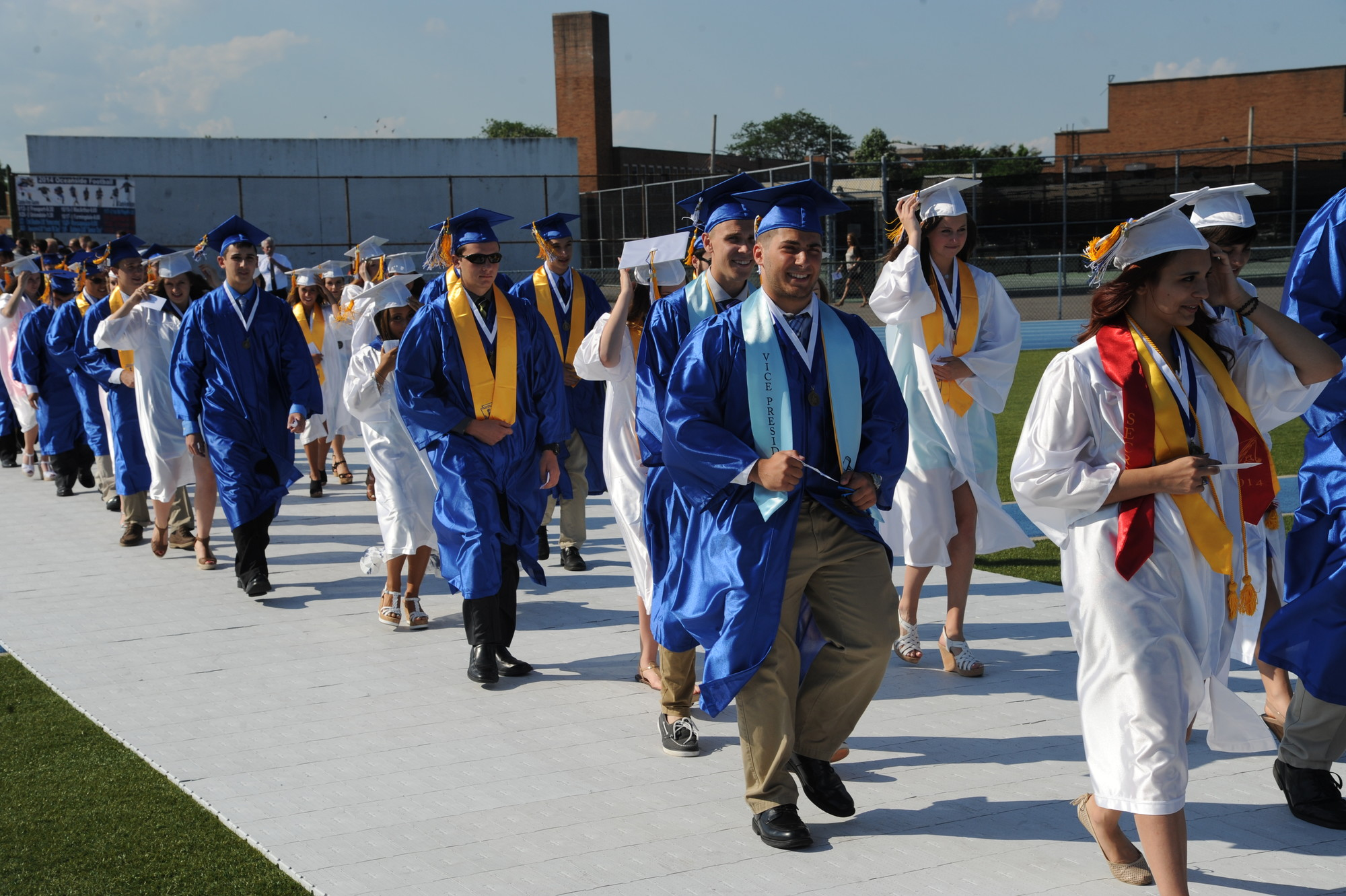 Oceanside High School's Class of 2014 marched to the stage.