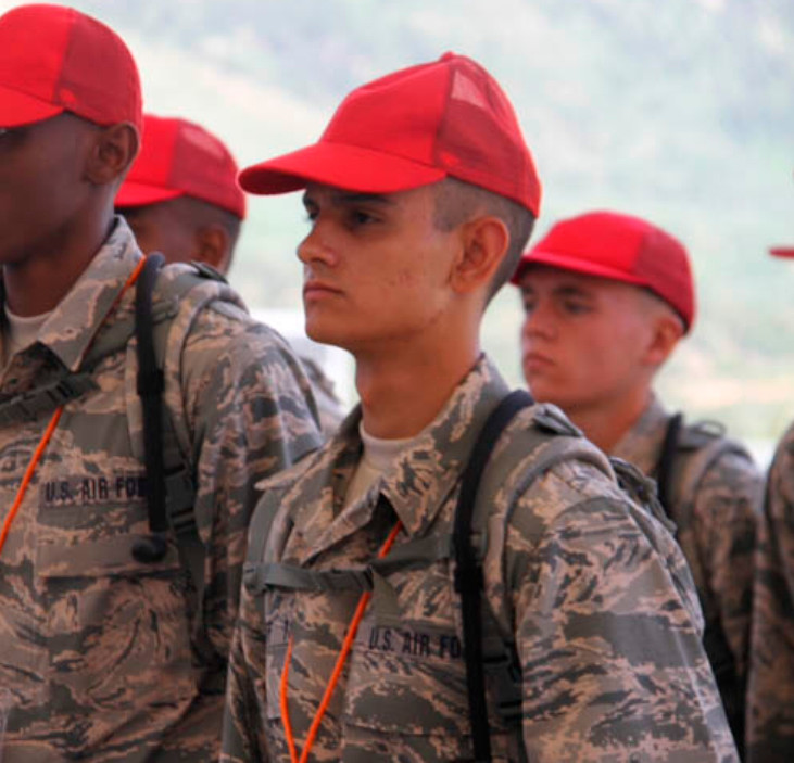 Eric Gershoff at his first week of basic cadet training.