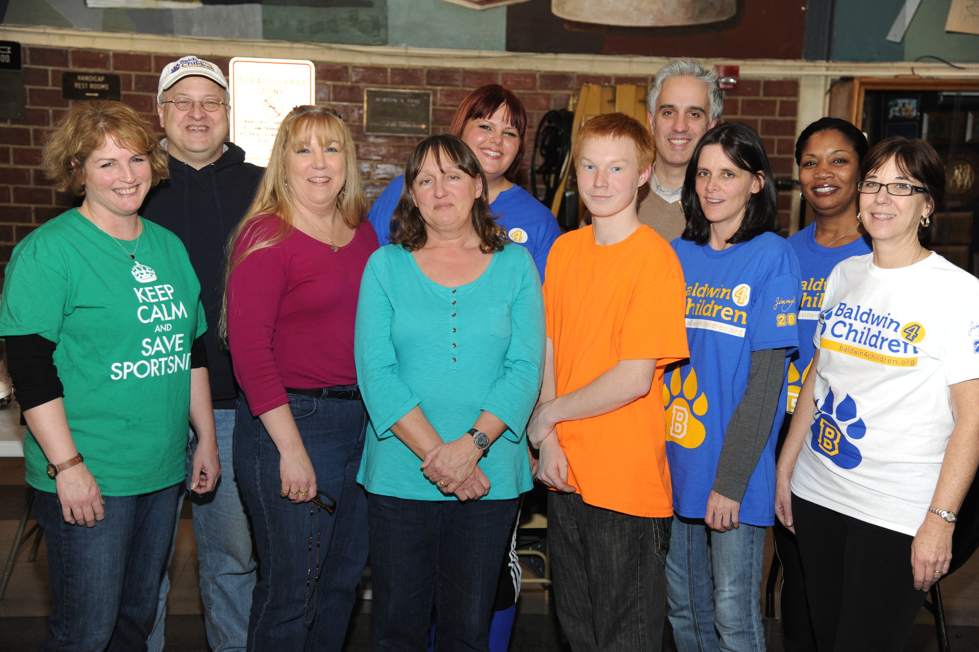 Volunteers from Baldwin 4 Children organized fundraisers over eight months to restore programs at Baldwin schools that were cut in the 2013-14 budget. Back row from left were Richard Damm, Heather Cameron, Rico Nardone and Pat Jenkins. Front row from left were Jen Clavin, Linda Degen, Lynn Maniace, Matthew Maniace, Deborah ReBore and Mary Jane Kearns.