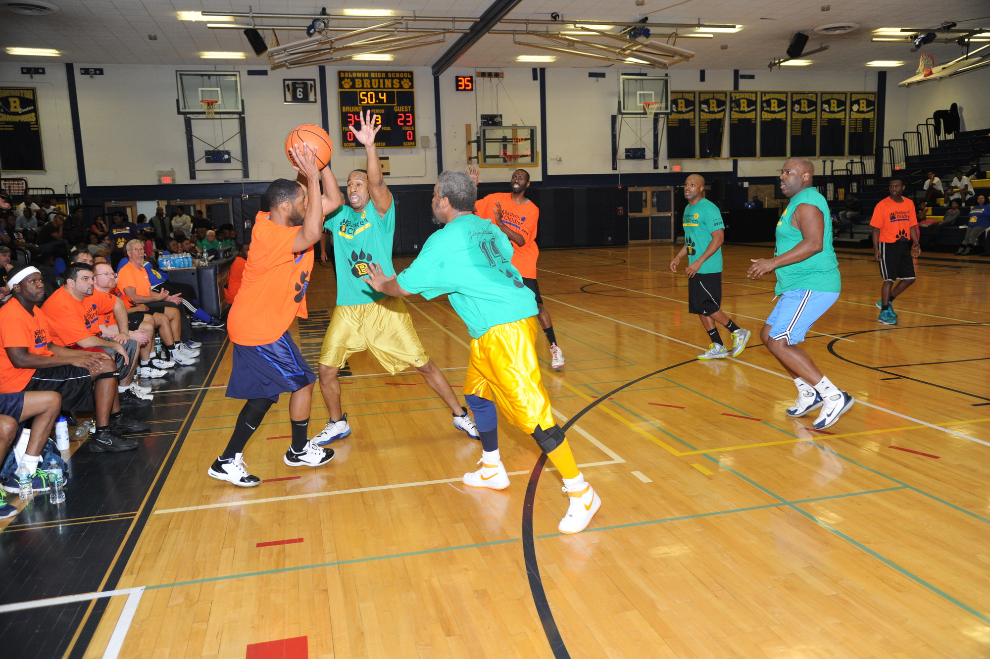 A Basketball fundraiser was held in January at Baldwin High School.