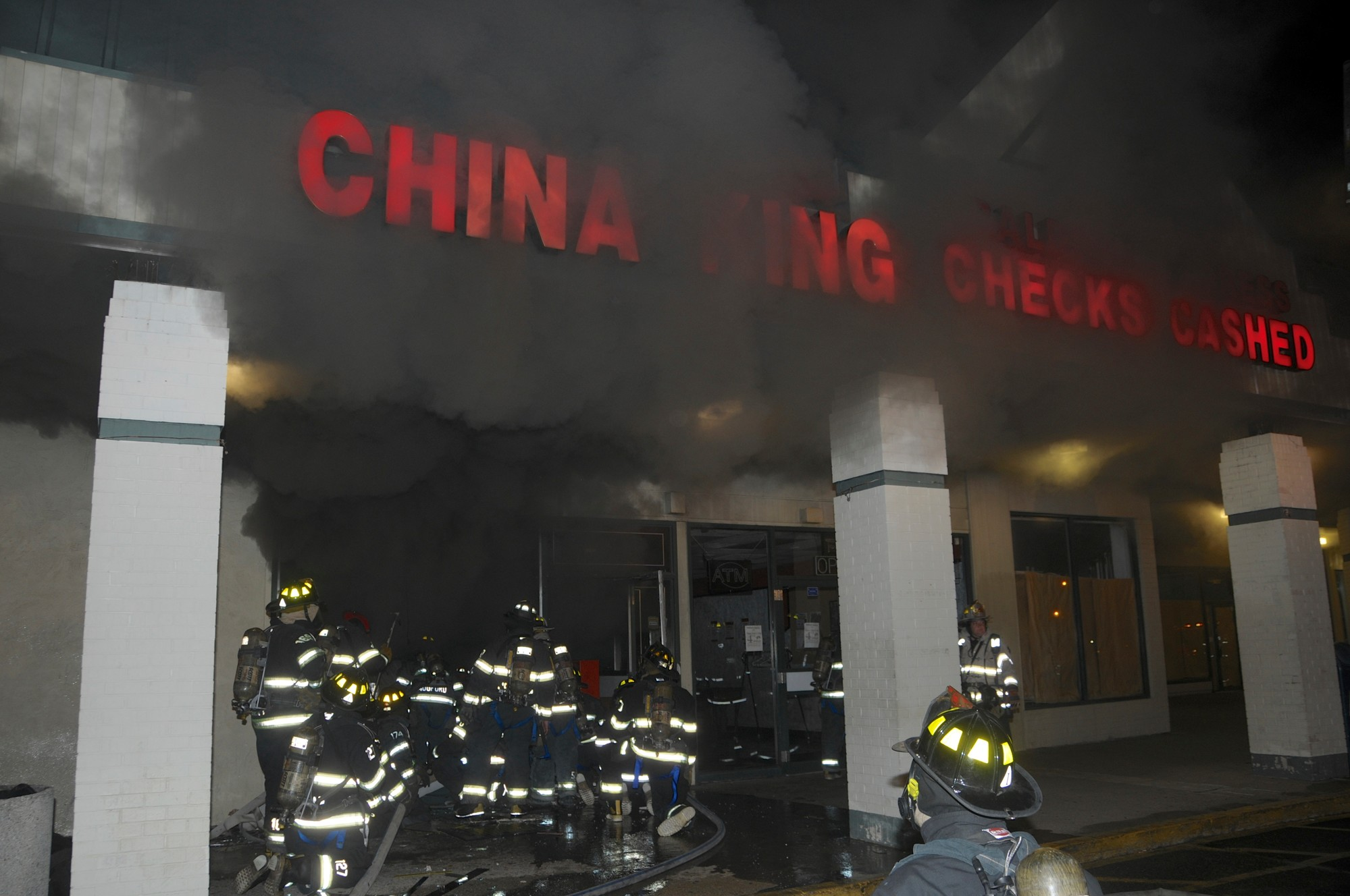 Smoke billowed from China King on July 3 around 1 a.m. after a fire started inside the restaurant's kitchen.