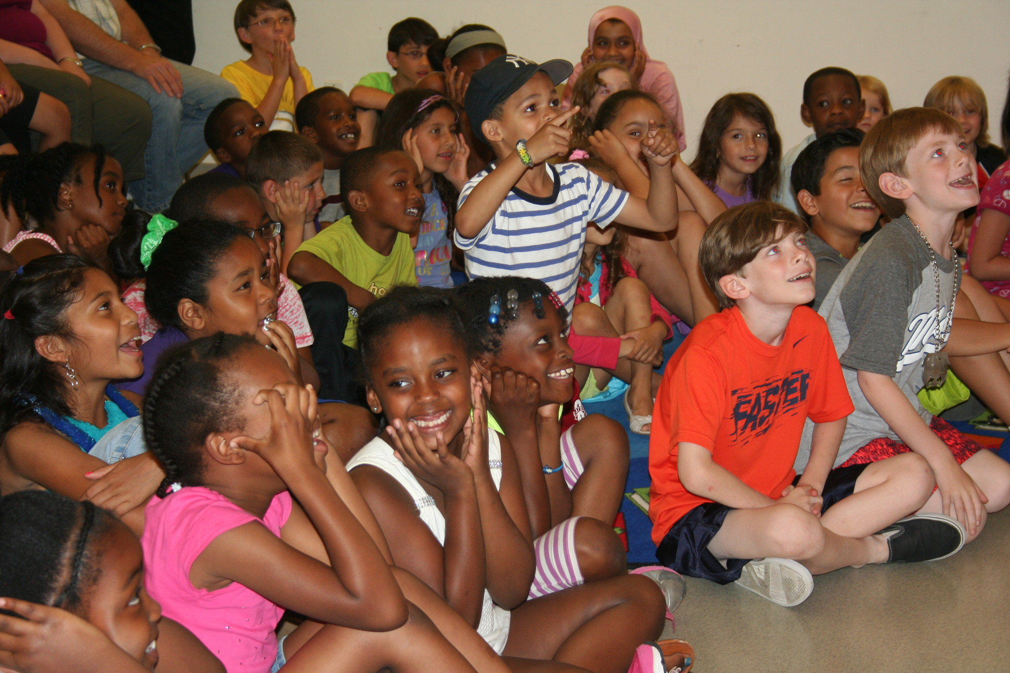 Dozens of kids attended Baldwin Public Library's Summer Reading Club kickoff on June 26.