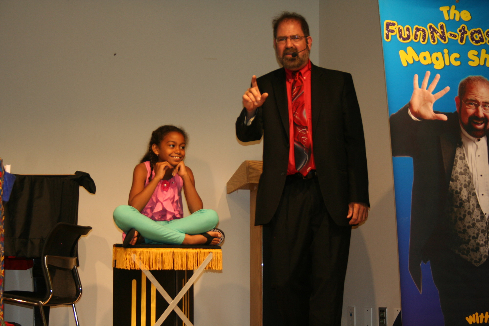 Natalie Rosario learned to levitate with magician David Lawrence.