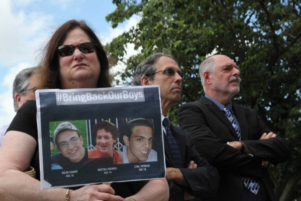 County residents gathered outside the Nassau County Human Rights Commission building in Mineola on June 26 to condemn the kidnappings of three Israeli teenagers, who were found murdered four days later in the West Bank.