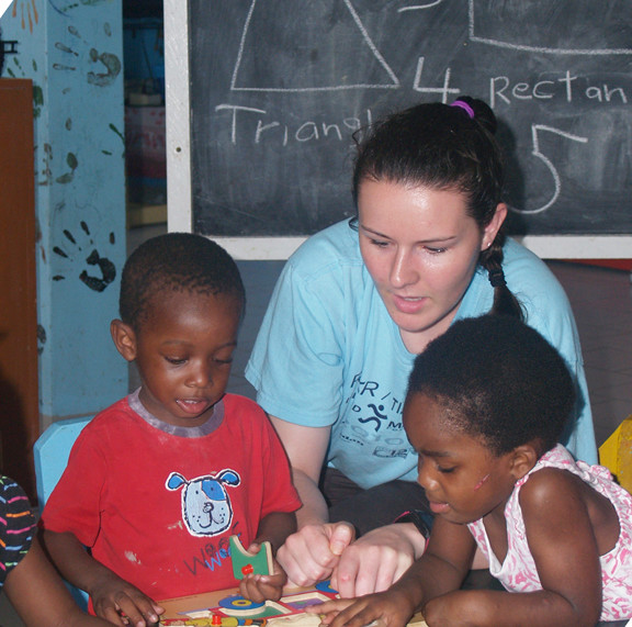 The EMHS alum tutored Guyanese children during her service trip.