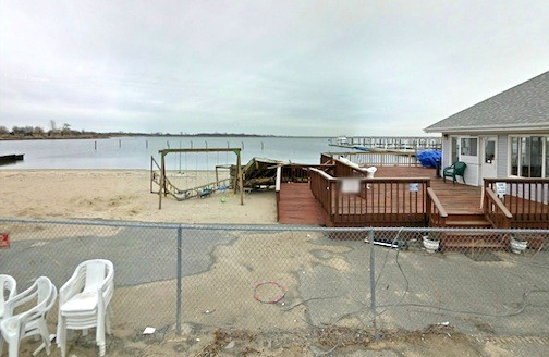 The Bay Park Civic Association's playground was virtually demolished by Hurricane Sandy.
