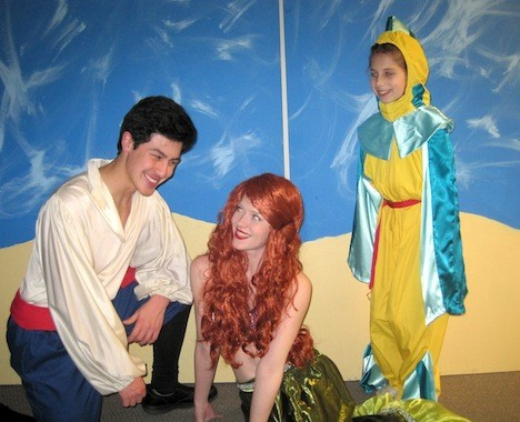 "See the adventurous mermaid explore the world above the sea in BroadHollow Theatre Company's staging of ""The Little Mermaid"" in Elmont on July 17."