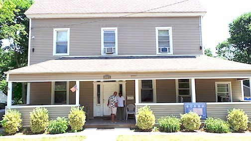 The Veterans Residence houses eight honorably discharged homeless veterans.