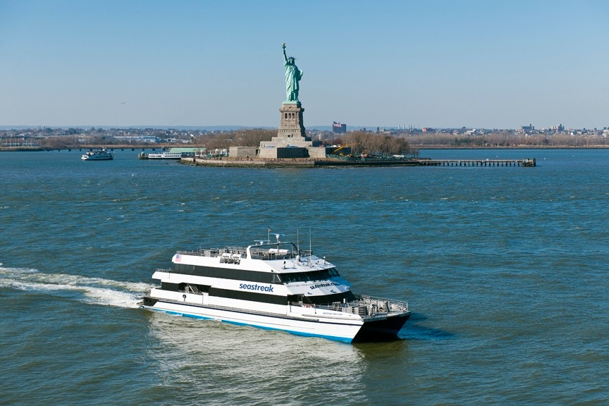 The Seastreak ferry operates from Rockaway, with multiple runs to lower Manhattan and midtown for $3.50 each way.