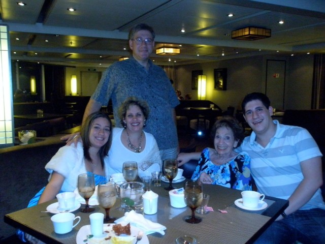 Bronx native and Woodmere resident Marcia Abramson succeeded academically and professionally during a time when it was less acceptable for women. From left were Maris Wasser, Jill Abramson-Wasser, Stuart Wasser, Abramson and Bradley Wasser from a 2013 cruise.