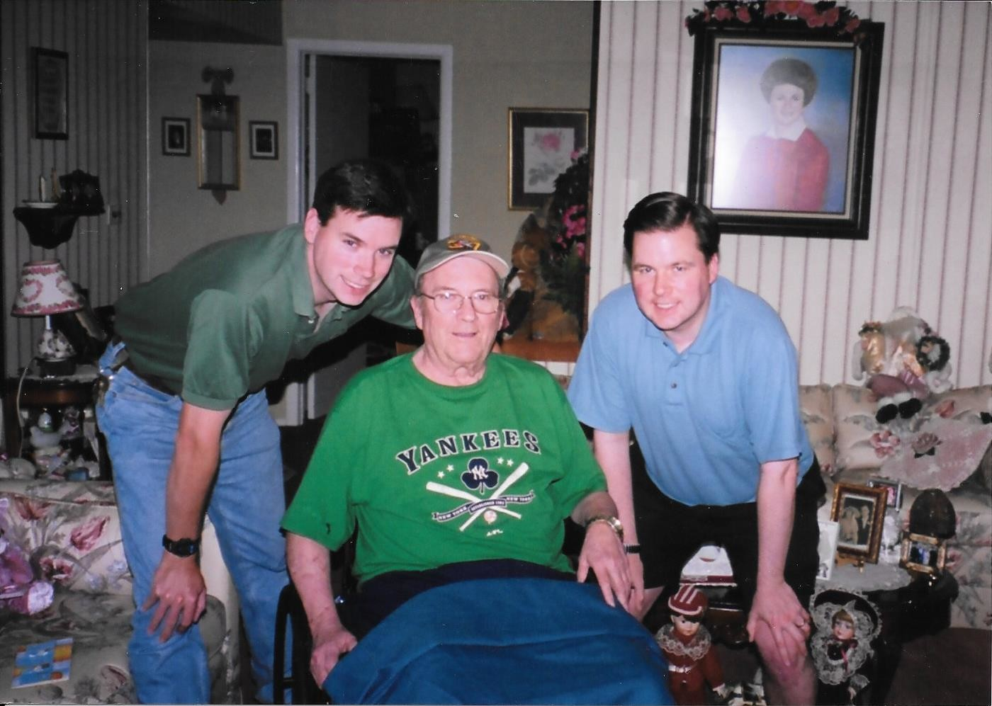 Tom McKevitt Sr., middle, pictured with his sons Scott, left, and Tom Jr., died on June 25. He was 75.