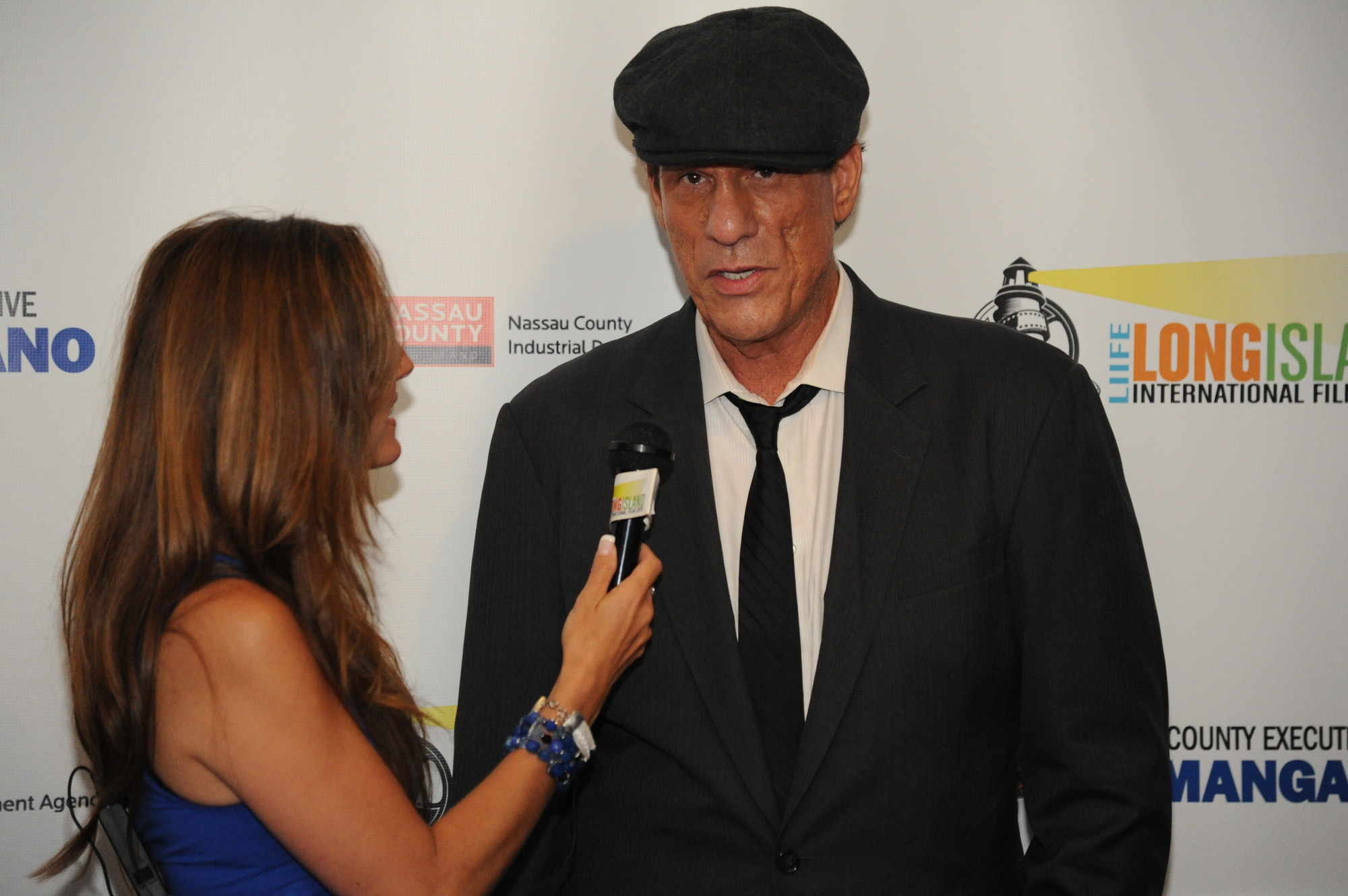 Robert Davi, who has appeared in more than 130 films, spoke to media before receiving the Long Island Filmmaker Achievement Award.