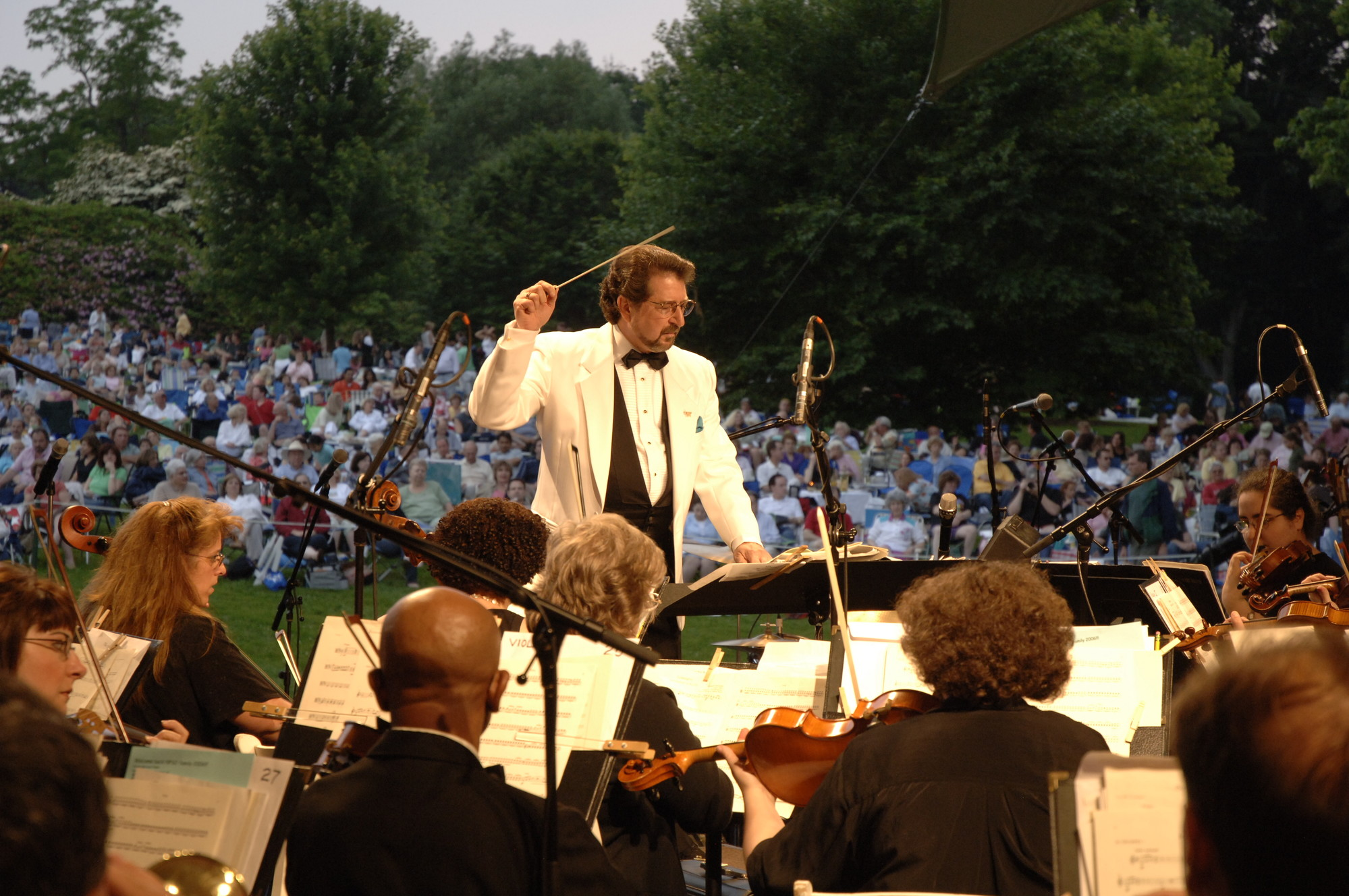 Louis Panaccuilli and his Nassau Pops are at Eisenhower Park on July 25.